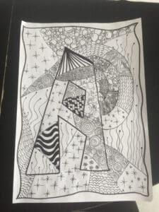 Zeichnung von A.