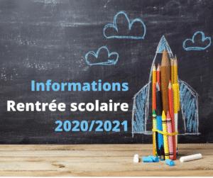 icône informations rentrée scolaire 2020/2021